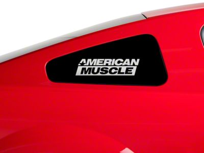 American Muscle Graphics AmericanMuscle Quarter Window Decal - Frosted Glass (79-19 All)