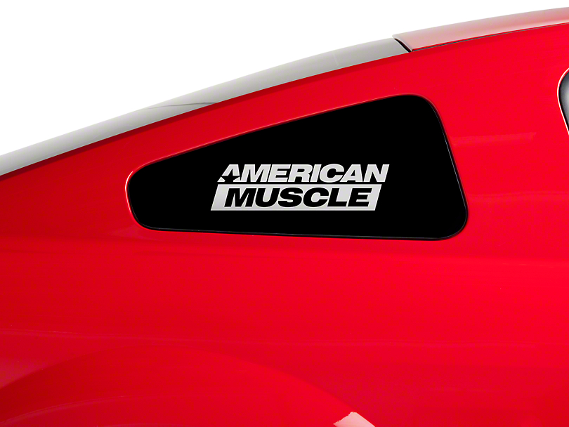 American Muscle Graphics AmericanMuscle Quarter Window Decal - Frosted Glass (79-17 All)