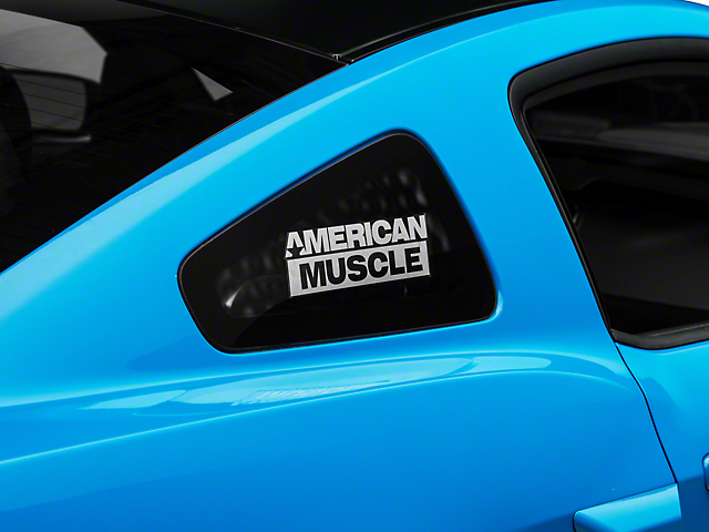 SEC10 AmericanMuscle Quarter Window Decal; Frosted (05-14 All)
