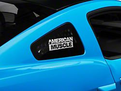 American Muscle Graphics AmericanMuscle Quarter Window Decal - Frosted (05-14 All)