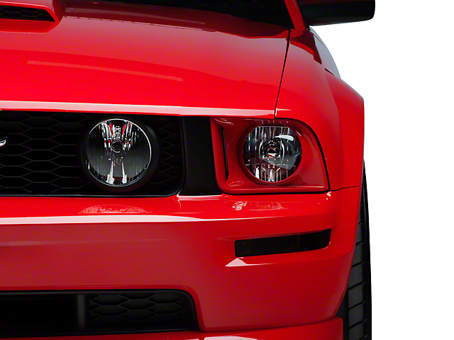 American Muscle Graphics Grille Pillar Blackout - Matte Black (05-09 GT)