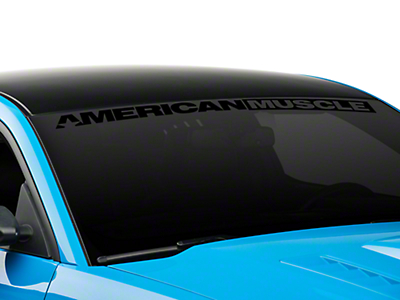American Muscle Graphics AmericanMuscle Windshield Banner - Black (05-17 All)