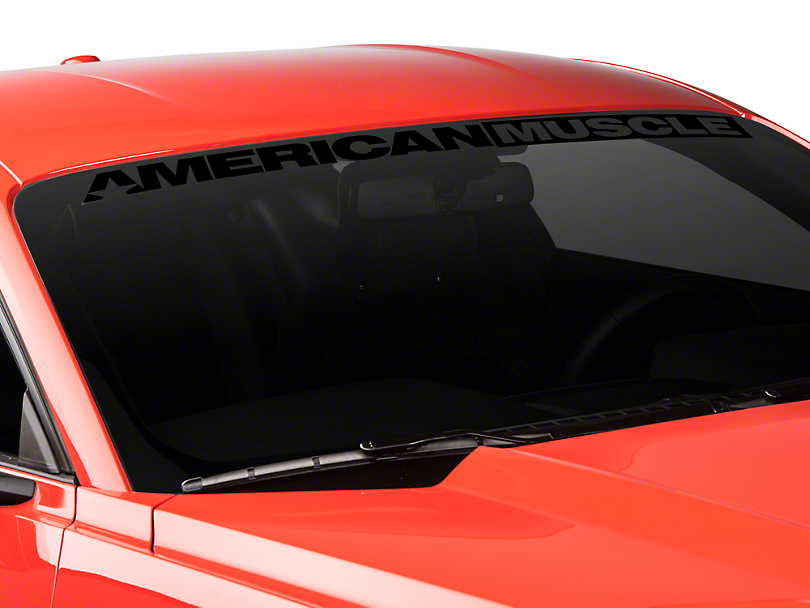 American Muscle Graphics AmericanMuscle Windshield Banner - Black (15-18 All)