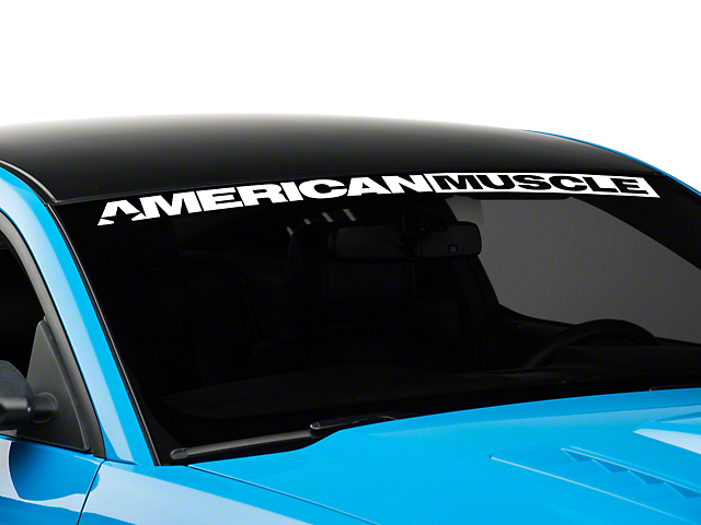 SEC10 AmericanMuscle Windshield Banner; White (05-14 All)