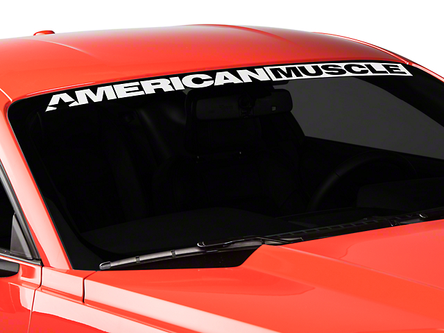 American Muscle Graphics AmericanMuscle Windshield Banner - White (15-19 All)