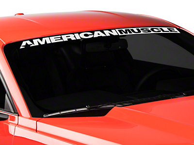 American Muscle Graphics AmericanMuscle Windshield Banner - White (15-17 All)