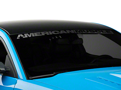 American Muscle Graphics AmericanMuscle Windshield Banner - Frosted (05-18 All)