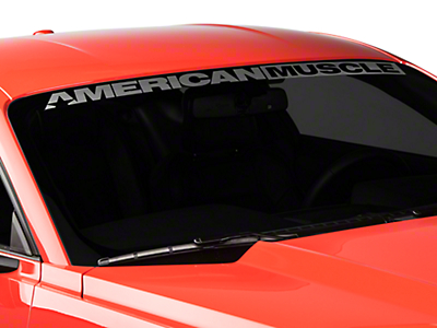 American Muscle Graphics AmericanMuscle Windshield Banner - Frosted (15-18 All)
