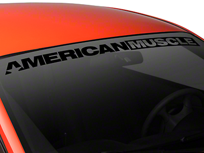 American Muscle Graphics AmericanMuscle Windshield Banner - Black (94-04 All)