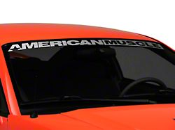 SEC10 AmericanMuscle Windshield Decal; Silver (94-04 All)