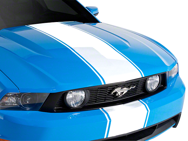 American Muscle Graphics White Super Snake Style Stripe Kit (79-20 All)