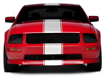 American Muscle Graphics White Super Snake Style Stripe Kit (05-14 All)