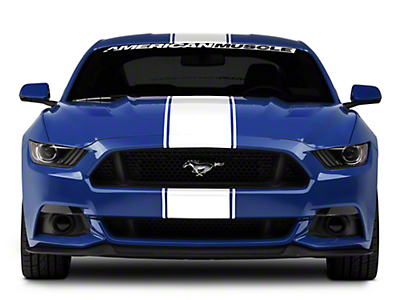 American Muscle Graphics White Super Snake Style Stripe Kit (15-17 All)