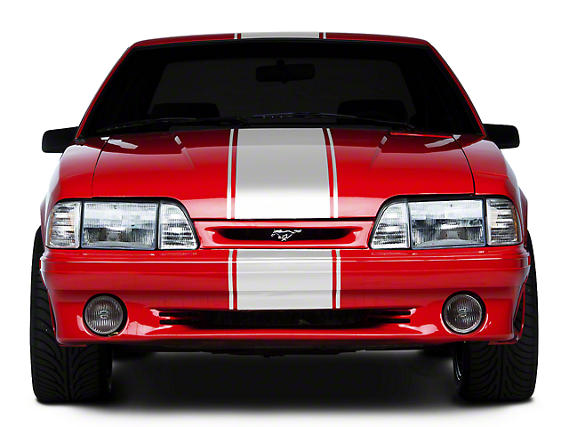 American Muscle Graphics White Super Snake Style Stripe Kit (79-93 All)