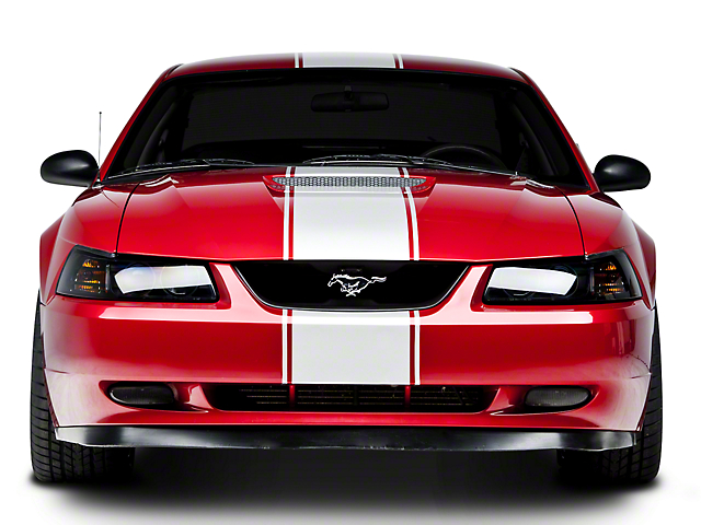 American Muscle Graphics Super Snake Style Stripes; White (94-04 All)