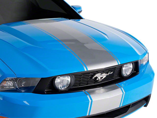 American Muscle Graphics Silver Super Snake Style Stripe Kit (79-20 All)