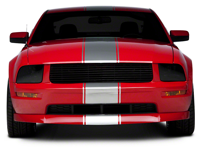 American Muscle Graphics Silver Super Snake Style Stripe Kit (05-14 All)