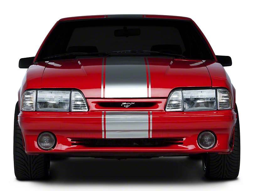 American Muscle Graphics Super Snake Style Stripes; Silver (79-93 All)