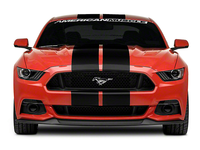 American Muscle Graphics Black GT500 Style Stripes - 10 in. (15-18 All)