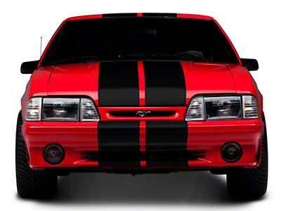 American Muscle Graphics Black GT500 Style Stripes - 10 in. (79-93 All)