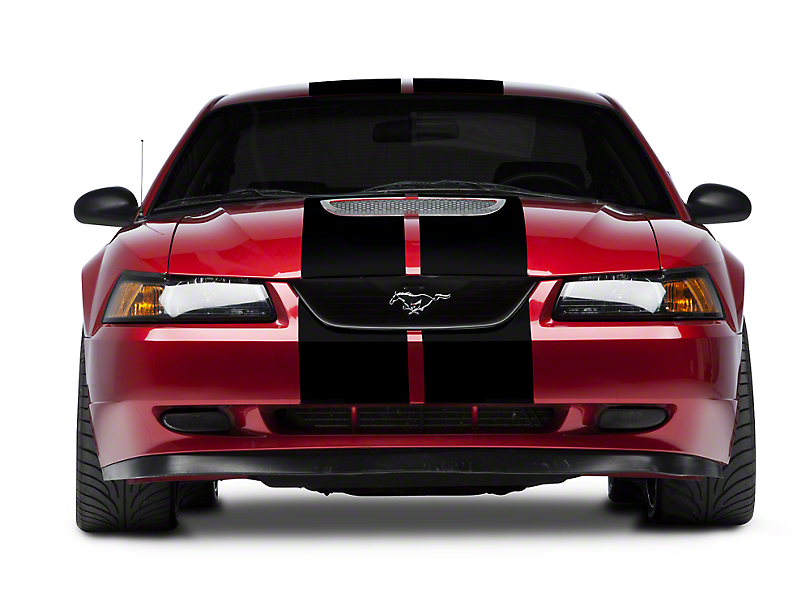 American Muscle Graphics Mustang Black Gt500 Style Stripes