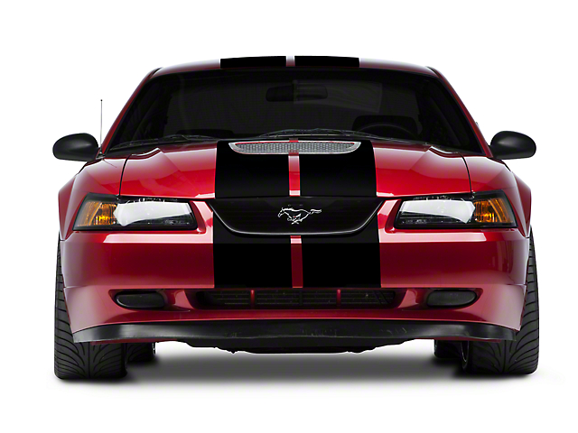 SEC10 GT500 Style Stripes; Black; 10-Inch (94-04 All)