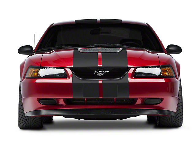 American Muscle Graphics Matte Black GT500 Style Stripes - 10 in. (94-04 All)