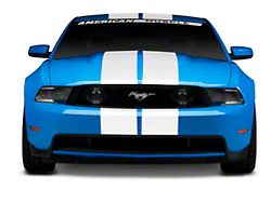 American Muscle Graphics White GT500 Style Stripes - 10 in. (79-19 All)