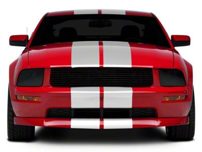 American Muscle Graphics Gloss White GT500 Style Stripes - 10 in. (05-14 All)