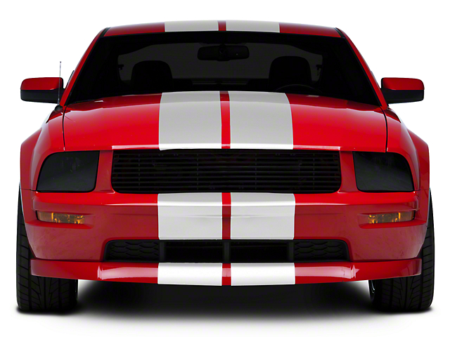 SEC10 GT500 Style Stripes; White; 10-Inch (05-14 All)