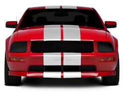 American Muscle Graphics GT500 Style Stripes; White; 10-Inch (05-14 All)