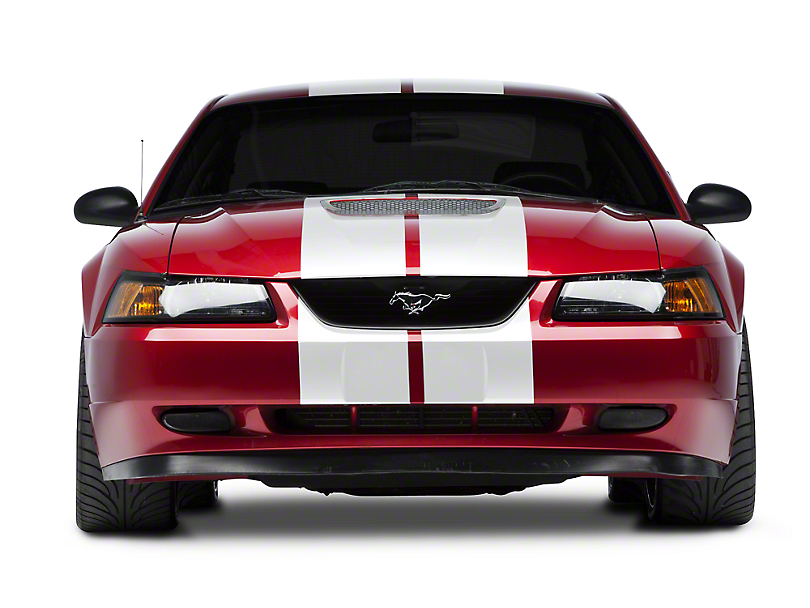 American Muscle Graphics White GT500 Style Stripes - 10 in. (94-04 All)