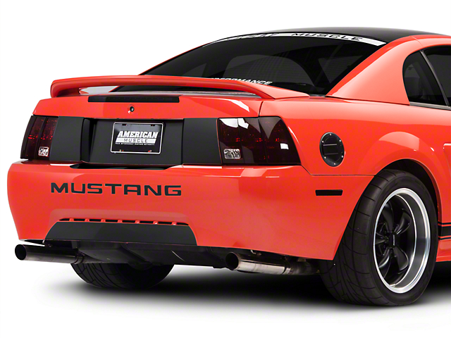 American Muscle Graphics Rear Decklid Blackout Decal; Matte Black (99-04 All)