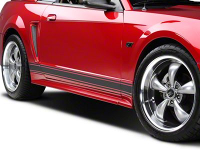 American Muscle Graphics Matte Black Rocker Stripes (79-19 All)