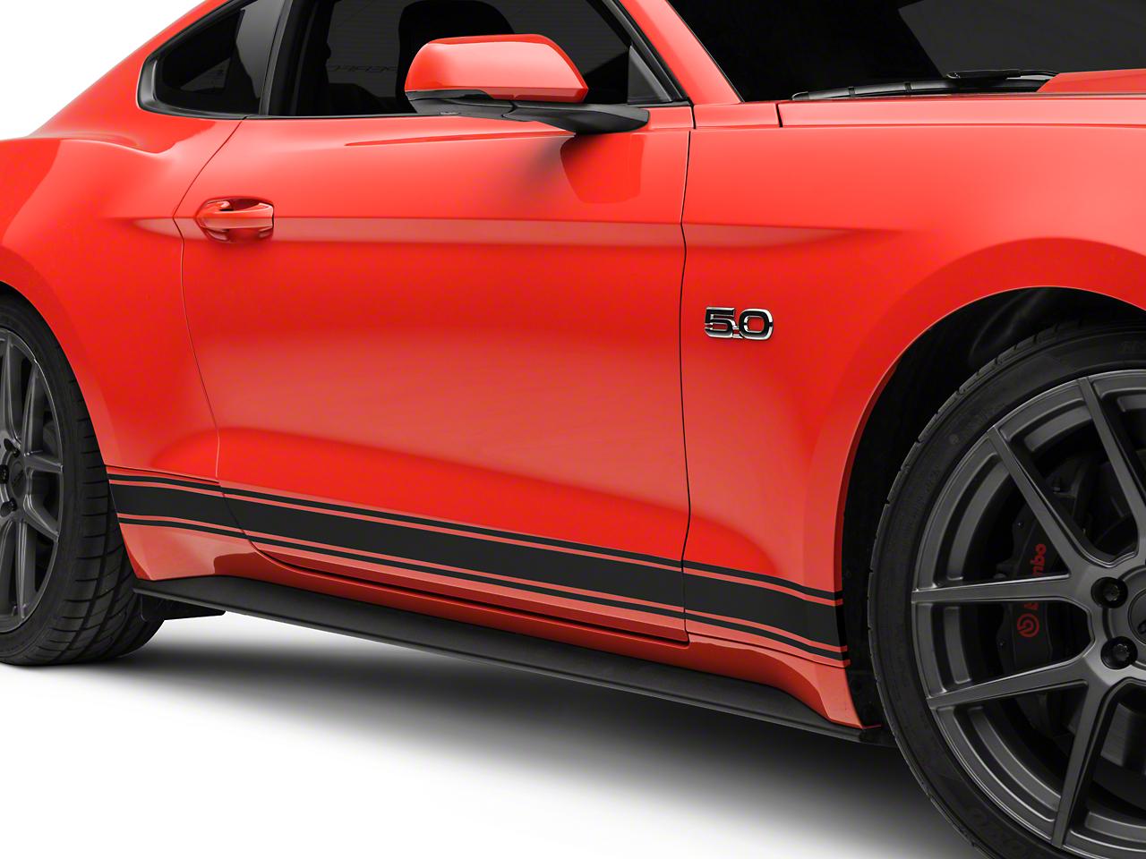 American Muscle Graphics Matte Black Rocker Stripes (15-18 All)