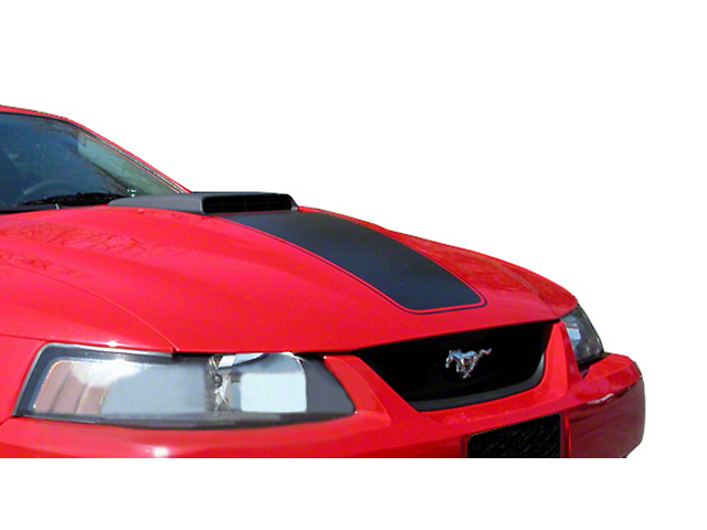 SEC10 Mach 1 Hood Decal; Matte Black (03-04 Mach 1; 99-04 w/ CDC Shaker Systems)