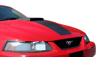 American Muscle Graphics Matte Black Mach 1 Hood Decal (03-04 Mach 1; 99-04 w/ CDC Shaker Systems)
