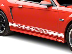 American Muscle Graphics White Rocker Stripes w/ AmericanMuscle (94-04 All)