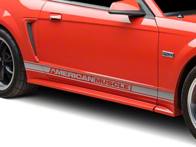 American Muscle Graphics Silver Rocker Stripes w/ AmericanMuscle (94-04 All)