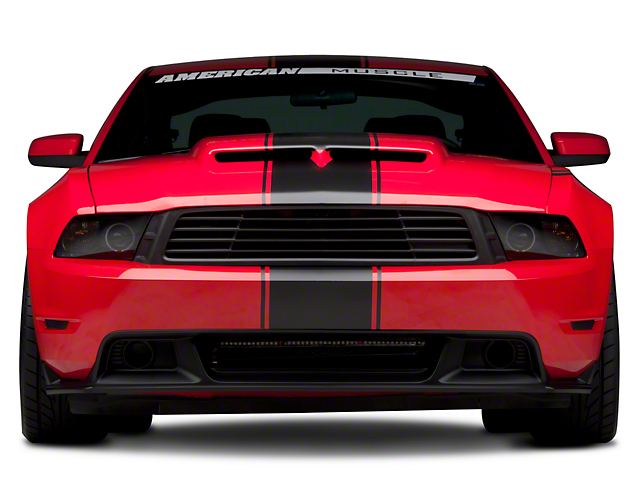 SEC10 Super Snake Style Stripes; Matte Black (79-21 All)