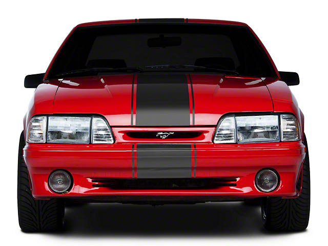 American Muscle Graphics Matte Black Super Snake Style Stripe Kit (79-93 All)