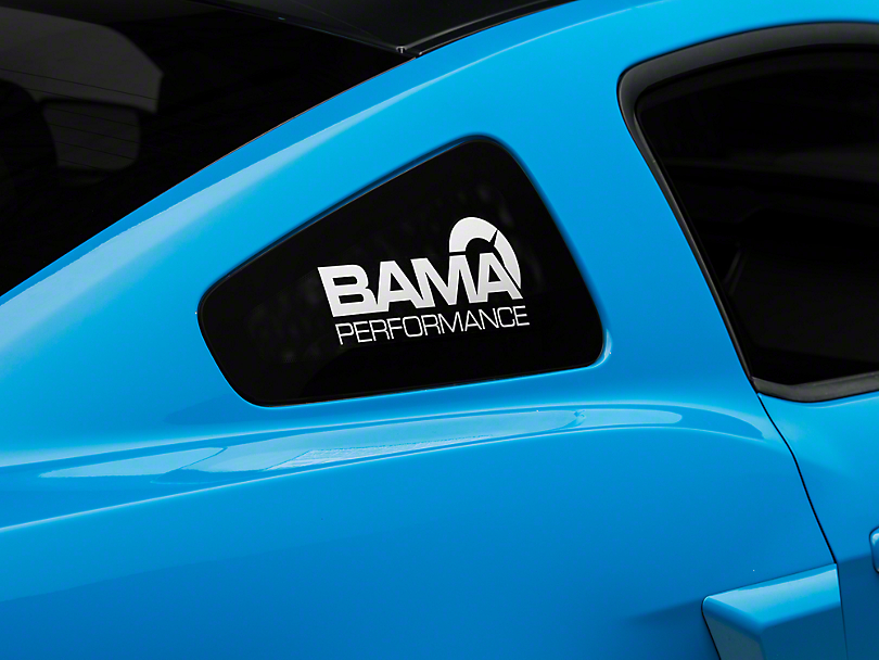 American Muscle Graphics Bama Performance Quarter Window Decal - White (05-14 All)