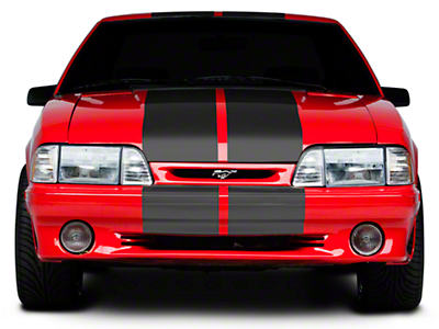 American Muscle Graphics Matte Black Lemans Stripes - 12 in. (79-93 All)