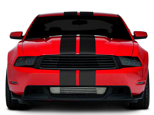 American Muscle Graphics Lemans Stripes; Matte Black; 8-Inch (05-14 All)
