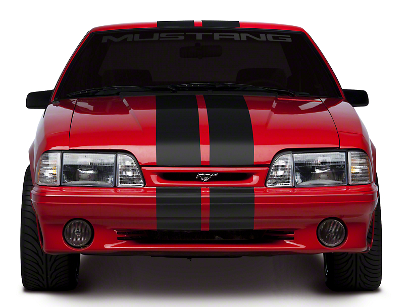 American Muscle Graphics Matte Black Lemans Stripes - 8 in. (79-93 All)