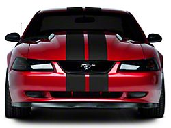 American Muscle Graphics Matte Black Lemans Stripes - 8 in. (94-04 All)