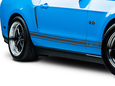 American Muscle Graphics Matte Black Rocker Stripes w/ GT350 (05-14 All)