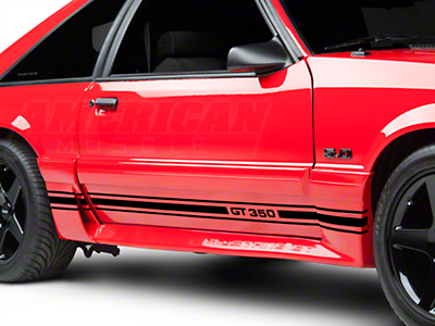 American Muscle Graphics Black Rocker Stripes w/ GT350 (79-93 All)
