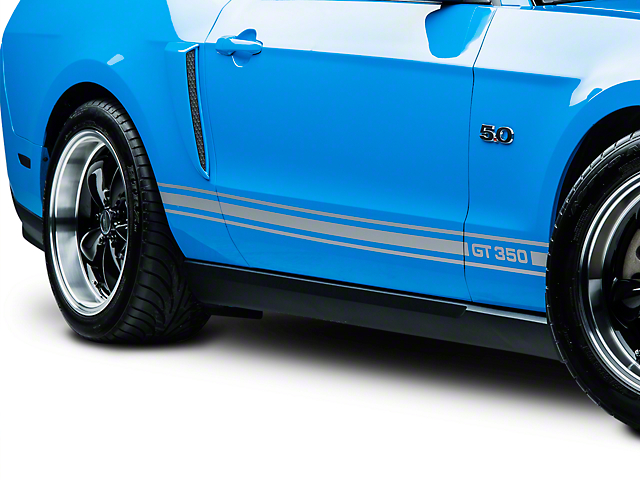 American Muscle Graphics Silver Rocker Stripes w/ GT350 (05-14 All)