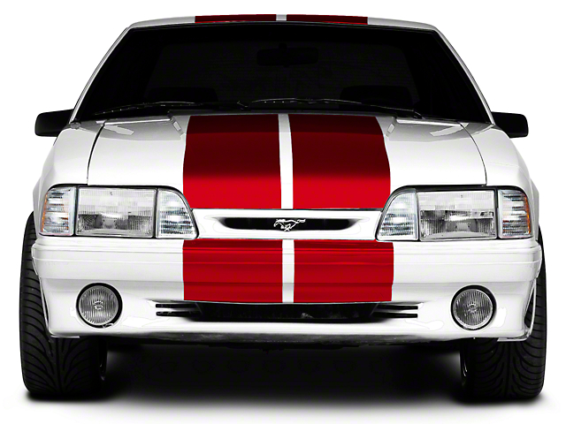 American Muscle Graphics Lemans Stripes; Red; 12-Inch (79-93 All)